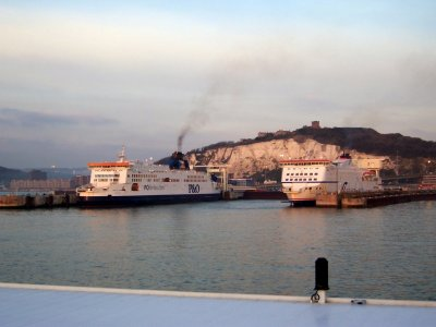 Ferries at Dover